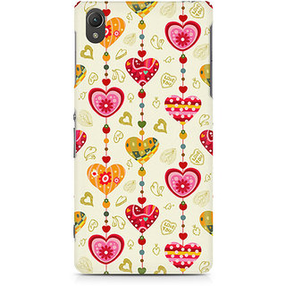 CopyCatz Cute Pink Hearts Premium Printed Case For Sony Xperia Z5 Dual