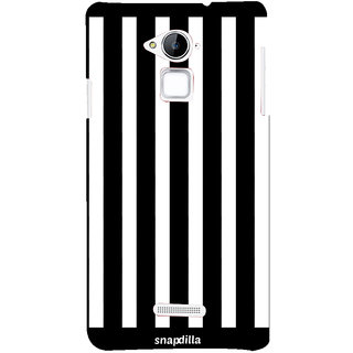 Snapdilla Black And White Bright Looking Gorgeous Stripes Pattern Latest Superb Cell Cover For Coolpad Note 3