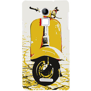 Snapdilla White Background Yellow Vintage Artistic Scooter Fantastic Stunning Mobile Cover For Coolpad Note 3