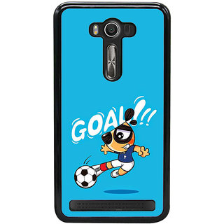Fuson Designer Back Case Cover For Asus Zenfone 2 Laser ZE550KL (Football  Boy Playing  Kick  Goal  Football Image)
