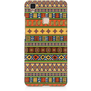 CopyCatz Orange Tribal Strips Premium Printed Case For Vivo V3 Max