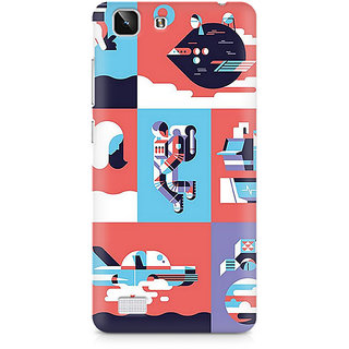 CopyCatz Abstract Fusion Triangle Premium Printed Case For Vivo X5