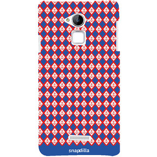Snapdilla Cool Looking Stylish Anchor Locks Checks Pattern Multi Color Beautiful Designer Case For Coolpad Note 3