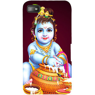 Snapdilla Hindu Indian God Little Krishna Makkan Chore Devotional Krishna Paint Designer Case For BlackBerry Z10
