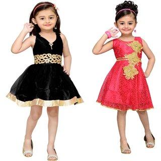 Adiva Girls Party Wear Frock ( Pack of 2)