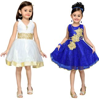 Adiva Girls Party Wear Frock ( Pack of 2)