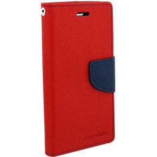 HTC Desire 620 Flip Cover By Unique Print - Red
