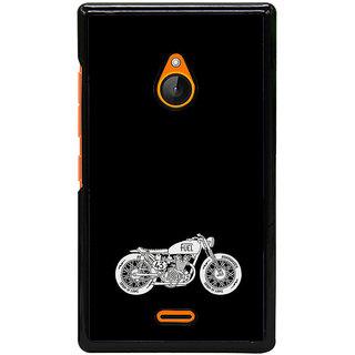 Fuson Designer Back Cover For Microsoft Lumia 540 Dual SIM (Bike Racer Bike Black  White White Bike)