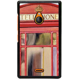 Fuson Designer Back Cover For Microsoft Lumia 540 Dual SIM (Phone Booth Telephone Public Booth Phone Call)