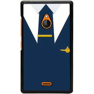 Fuson Designer Back Cover For Microsoft Lumia 540 Dual SIM (Suit Tie Overcoat Coat Blue)