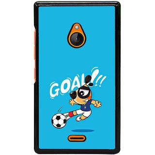 Fuson Designer Back Cover For Microsoft Lumia 540 Dual SIM (Football  Boy Playing  Kick  Goal  Football Image)