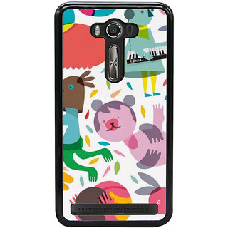 Fuson Designer Back Cover For Asus Zenfone 2 Laser ZE550KL (Babies Piano Painted Imaginary Illusionary)