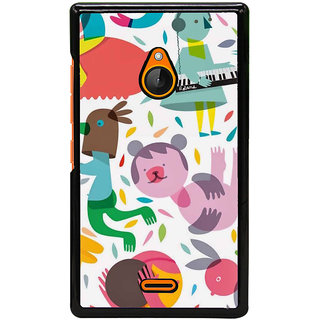Fuson Designer Back Cover For Microsoft Lumia 540 Dual SIM (Babies Piano Painted Imaginary Illusionary)