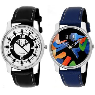 GUG Casual Analog Round Men's Watch - Pack Of 2
