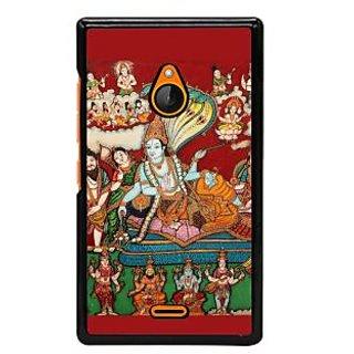 Fuson Designer Back Cover For Microsoft Lumia 540 Dual SIM (Lord Vishnu With Devotees Madhusoodanah  Medhaavee  Sureshah  Vasu)