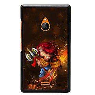 Fuson Designer Back Cover For Microsoft Lumia 540 Dual SIM (Bum Bum Bhole  Dancing Trishul  Nag)