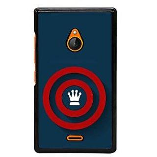 Fuson Designer Back Cover For Microsoft Lumia 540 Dual SIM (Crown Circles Red Circles Spheres ROunds)