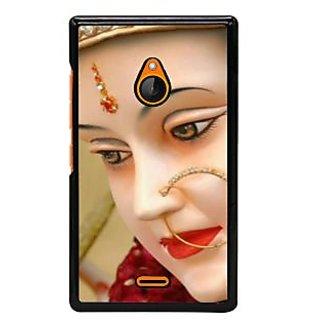 Fuson Designer Back Cover For Microsoft Lumia 540 Dual SIM (Bhairavi Bhuvaneshvari Maheshvari Jwalinyai Trivarna)
