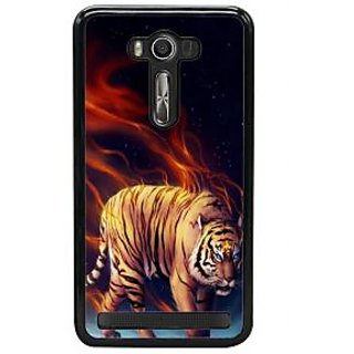 Fuson Designer Back Cover For Asus Zenfone 2 Laser ZE550KL (Burning Tiger Cute Tiger LOvely Tiger Wild Angry Tiger Angry Wild Tiger)