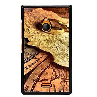 Fuson Designer Back Cover For Microsoft Lumia 540 Dual SIM (Navigation Map Chakra India Ship)