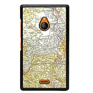 Fuson Designer Back Cover For Microsoft Lumia 540 Dual SIM (Navigation Map Chakra India Ship)