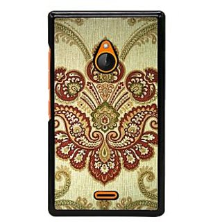 Fuson Designer Back Cover For Microsoft Lumia 540 Dual SIM (Rangoli Colourful Rangoli Bright Rangoli Flower Rangoli Flower)