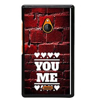 Fuson Designer Back Cover For Microsoft Lumia 540 Dual SIM (Love Infactuation Love Heart Pure Love Lovely)
