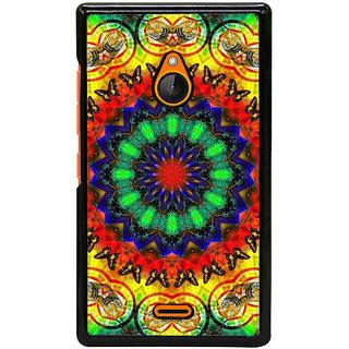 Fuson Designer Back Cover For Microsoft Lumia 540 Dual SIM (Rangoli Colourful Rangoli Bright Rangoli Flower Rangoli Flower)