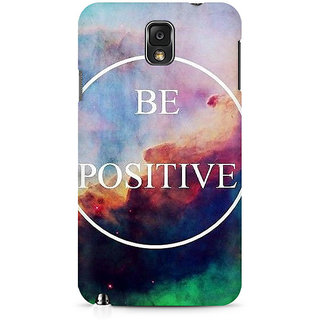 CopyCatz Be Positive Premium Printed Case For Samsung Note 3 N9006