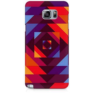 CopyCatz Concentric Squares Premium Printed Case For Samsung Note 5