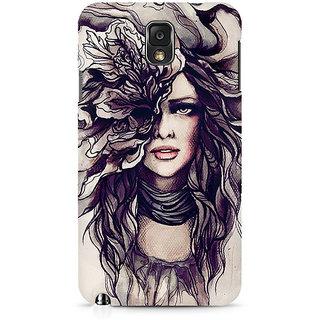 CopyCatz Crazy Hairy Girl Premium Printed Case For Samsung Note 3 N9006