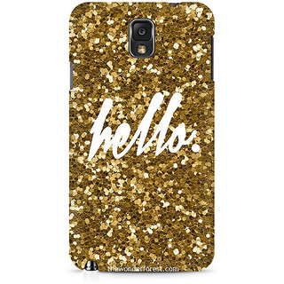 CopyCatz Golden Hello Premium Printed Case For Samsung Note 3 N9006