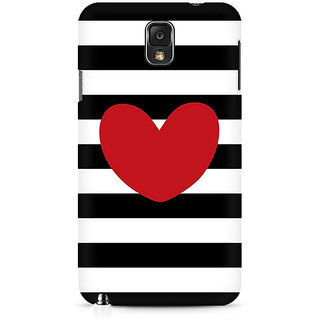CopyCatz Red On Black And White Premium Printed Case For Samsung Note 3 N9006