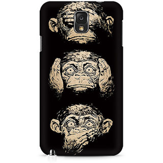 CopyCatz Three Wise Monkeys Premium Printed Case For Samsung Note 3 N9006
