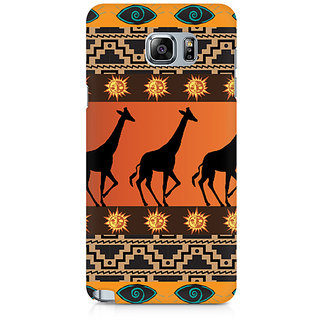 CopyCatz Tribal Giraffe Premium Printed Case For Samsung Note 5