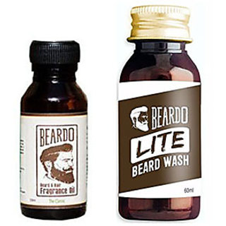 Beardo The Classic Beard Fragrance Hair Oil 10 ml And  Beardo Lite Wash (60 ml) Combo.