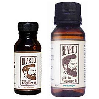 Beardo Beard  Hair Fragrance Oil, The Old Fashioned (10ml) And Beardo Beard  Hair Fragrance Oil, The Irish Royale (50ml) Combo.