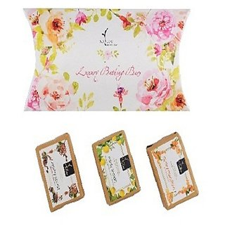 Soap Pillow Pack - 1 Creamy Cocoa Bathing Bar - 125g, Minty Lemon Bathing Bar - 125g, Honey Mandarin Bathing Bar - 125g