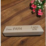 Personalized Laser Engraved Wooden Double Pen Box