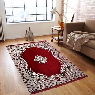 AmarOverseas Multi Velvet Carpet Printed