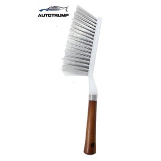 AUTOTRUMP Cleaning Brush with Hard and Long Bristles for  Skoda Superb Car Seat, Carpet and Mats