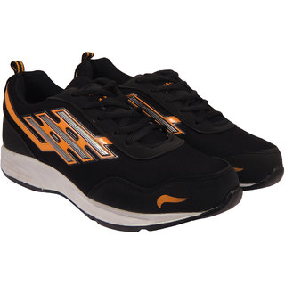 Action Synergy 7166 Black/Orange Sports Shoes