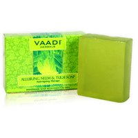 Vaadi Herbals Alluring Neem-Tulsi Soap with Vitamin E  Tea Tree Oil (75 gms)