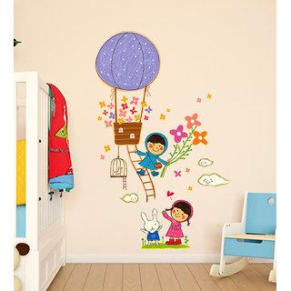 Wall Stickers Hot Air Balloon Cartoon Design For Kids Room Decoration Vinyl