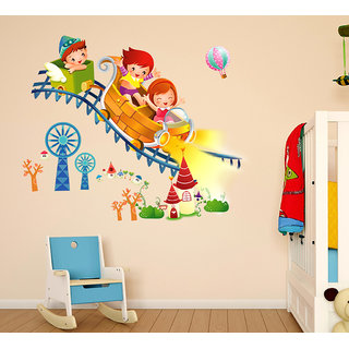 Wall Stickers Kids Riding Roller Coaster Design For Kids Bedroom And Living  Room Decoration Vinyl ? Part 98