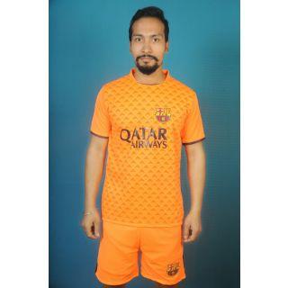 Dinnar fashion new orange barsanola football Jersey with shorts