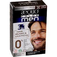 Aequo Color Men 5G Golden Light Brown Organic Hair Colour Kit - 160ml
