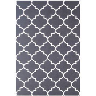 Handmade Wool Modern Black/ Ivory 5x8 lt1373 Area Rug Carpet
