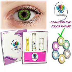 DIAMOND EYE (10 Pcs. 1 DAY GREEN COLOR LENS) GIFT BOX