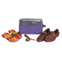 Harissons Compact Shoe Pouch With Handle Strap (Purple, HBN9PURPLE)
